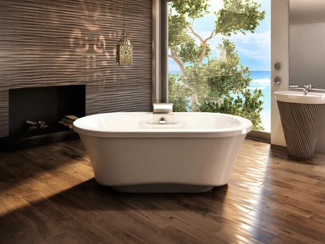 AMMA Oval 7242 Freestanding Tub - Narrow Base - Contemporary ...