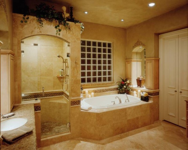 An award winning master bath traditional bathroom for Pretty bathroom decorating ideas