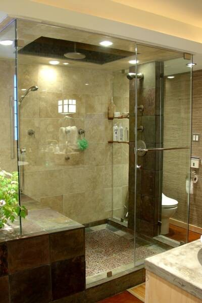 An award winning master suite oasis asian bathroom for Master suite bathroom