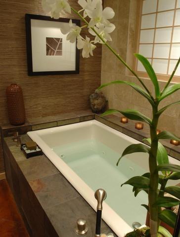 an award winning master suite oasis! - asian - bathroom