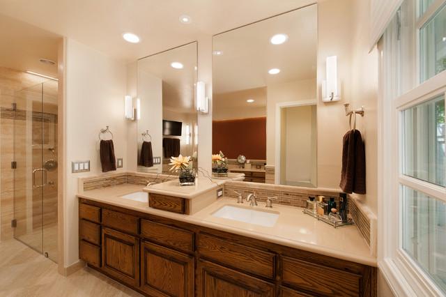 Anaheim Hills Bathroom Redmodel Harris Traditional Bathroom Orange County By Burgin