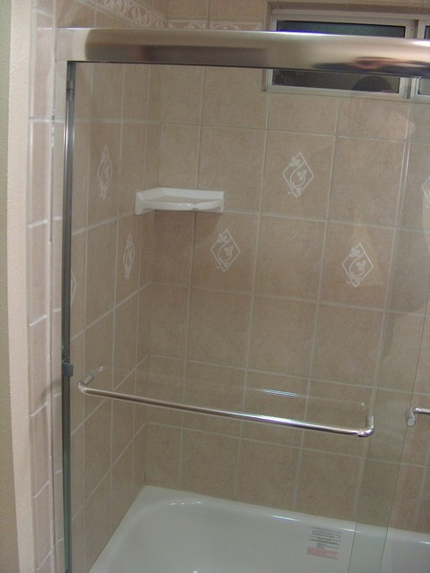 Anaheim Rimless Shower Doors And Tile Coving Traditional