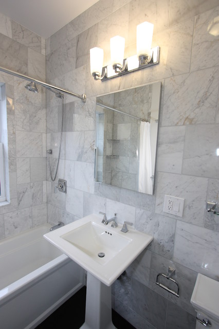Andersonville Marble Bathroom eclectic-bathroom