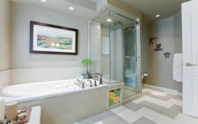 Angled Bathroom/Clean Design traditional-bathroom