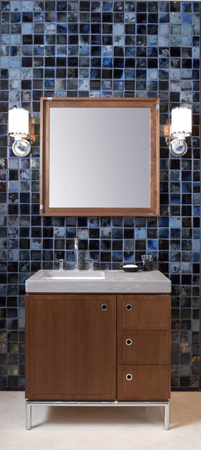 Ann Sacks Fire And Earth Ceramic Tile Bathroom