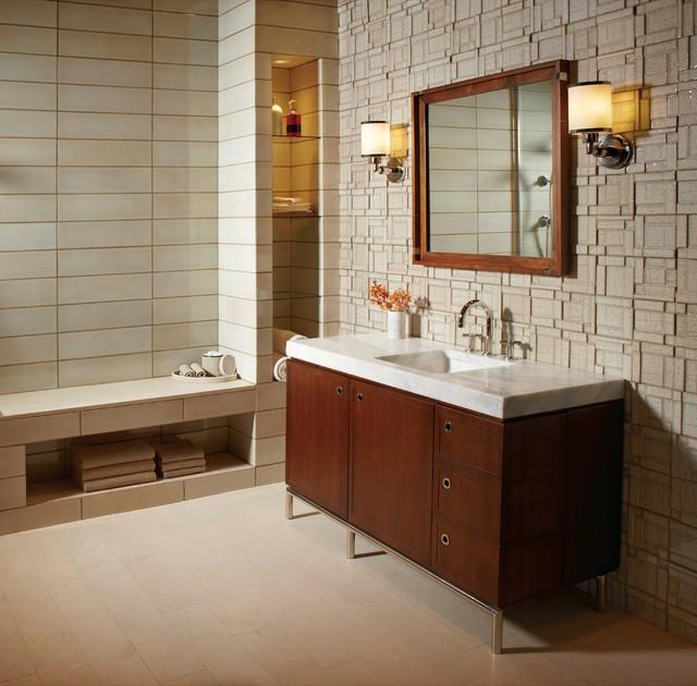 Ann Sacks Koi Ceramic Tile Bathroom Chicago By