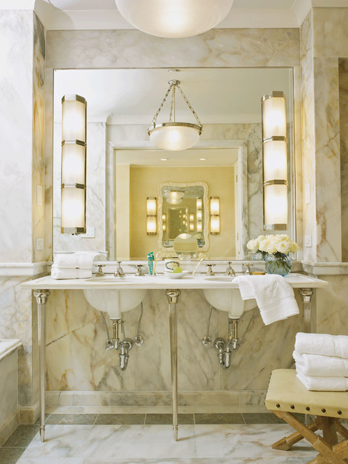 Where Is The Hanging Light Fixture From Beautiful Bathroom