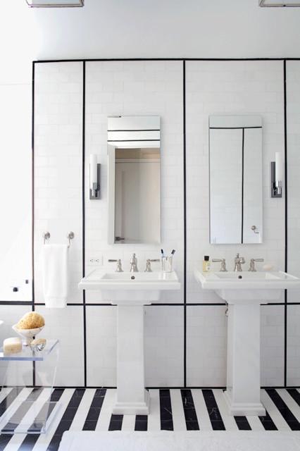Ann Sacks Marble Tile And Trim Bathroom New York By