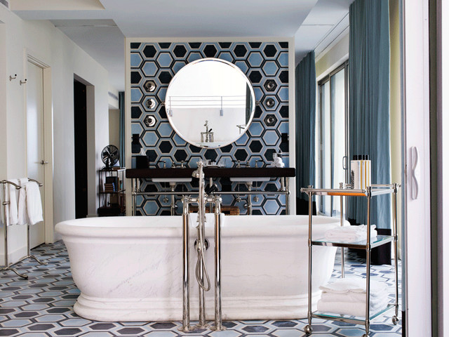 ann sacks paccha concrete tile bathroom miami by ann sacks. Black Bedroom Furniture Sets. Home Design Ideas