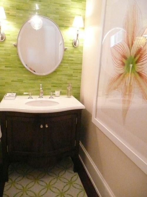 ann sacks tile bathroom - Velvet & Linen tropical bathroom