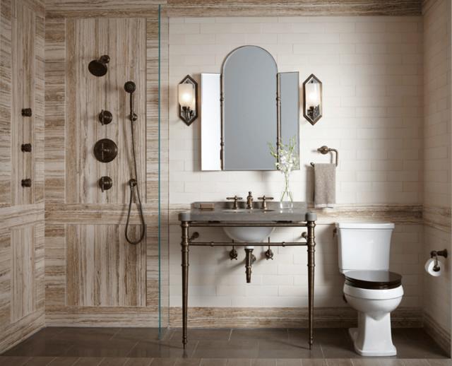 Ann Sacks Travertine Bathroom Chicago By Ann Sacks