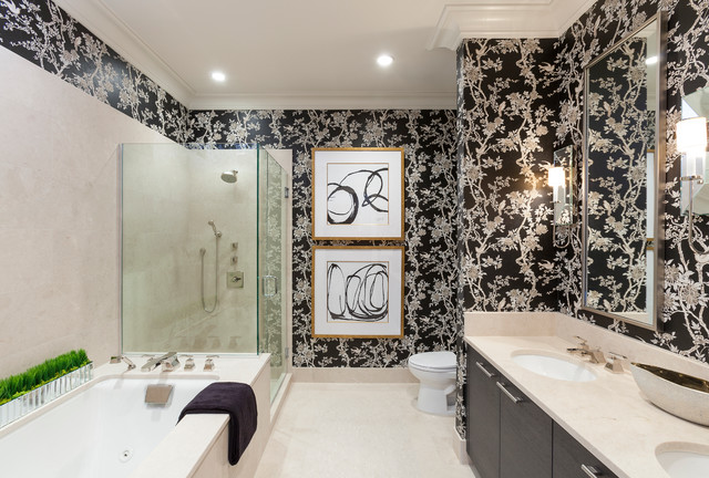 Interior Bathroom Design with Uniqe Wall