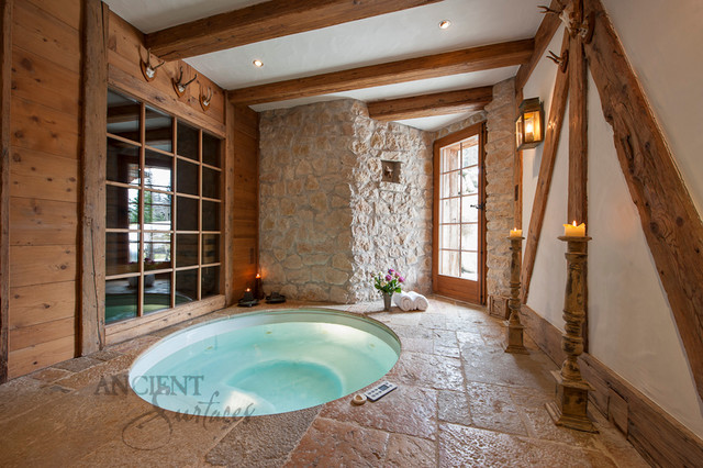 Antique master bathrooms tiles and antique limestone for Limestone tub