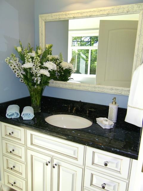 Antiqued Cream Bath Cabinets Traditional Bathroom