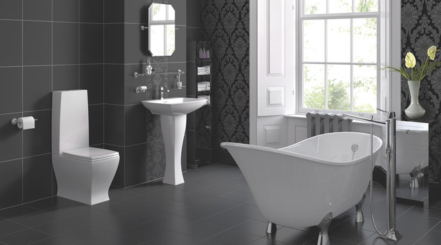 Antonio bathroom suite contemporary bathroom for B q bathroom accessories