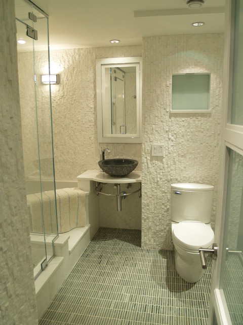 Apartment Living Master Bath Contemporary Bathroom New York By Falk Designs Llc
