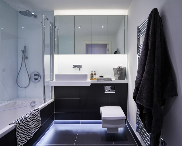 Apartment london modern bathroom london by the Bathroom design company london