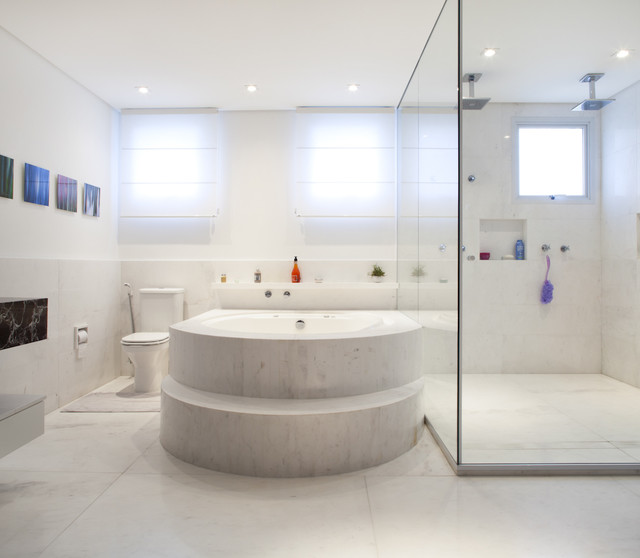 Apartment Panamby | CH Arquitetura traditional bathroom