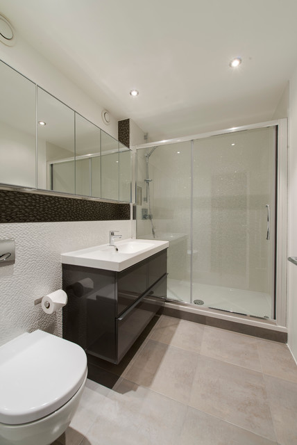 apartment swiss cottage contemporary bathroom london by laroya co