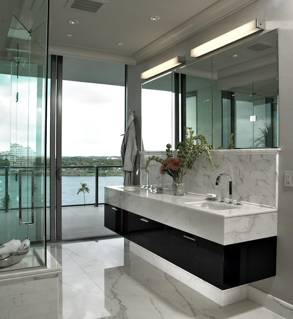 Modern Hotel Bathroom Design Ideas: Apogee Condo