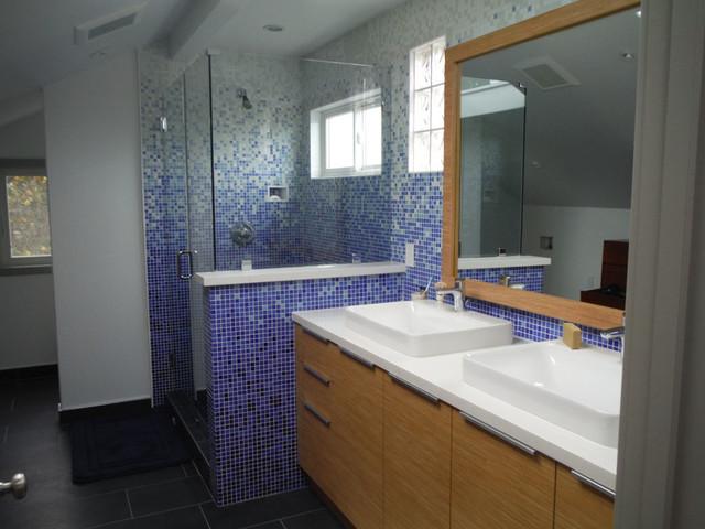 Gradient For Bathroom Floor : Applewhite master bath in kaleidoscope ? colorshift glass