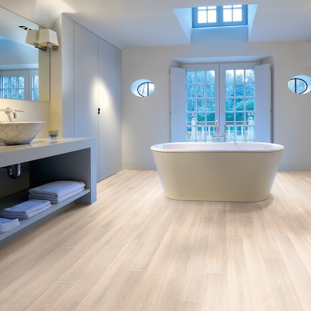 Aqua Step Montana Oak Waterproof Flooring Contemporary Bathroom Other By Lf Direct