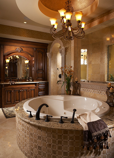 Aqualane Shores Custom Residence mediterranean bathroom