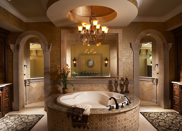 Aqualane Shores Custom Residence mediterranean-bathroom