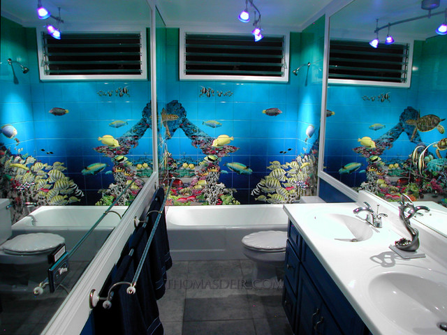 Aquarium Bathroom tropical bathroom