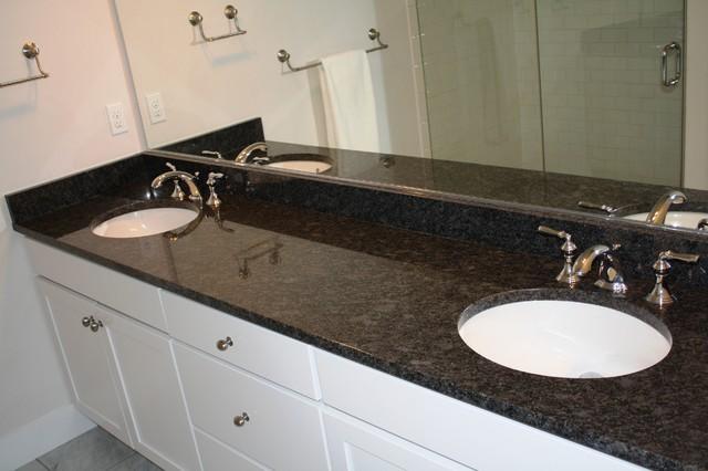 Arabian Black Steel Grey Traditional Bathroom