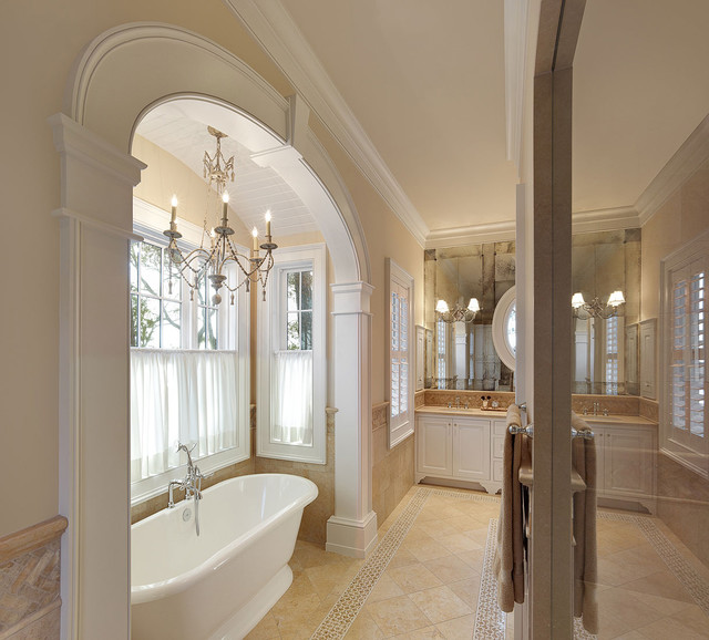 Arch Accenuates Tub In Master Bath Traditional