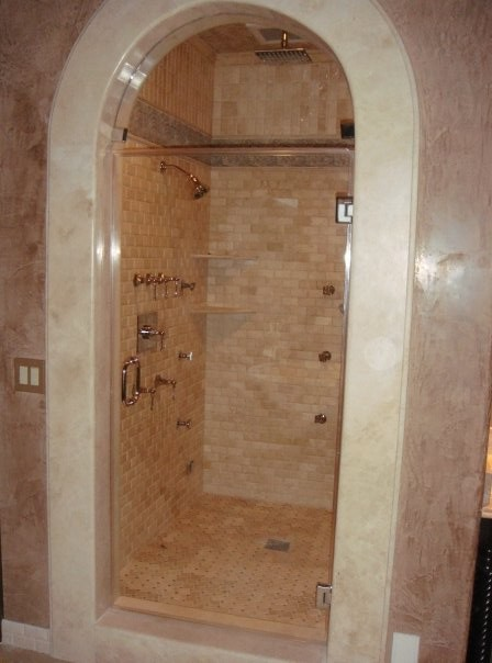 Arched Frameless Glass Door