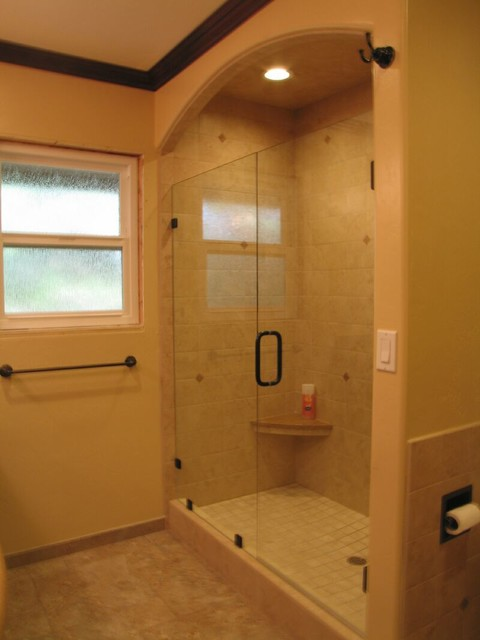 Arched Shower Tile Traditional Bathroom San Diego