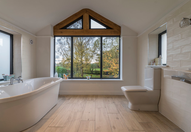 architect designed extension to a traditional family home near alderley edge salle de bain. Black Bedroom Furniture Sets. Home Design Ideas