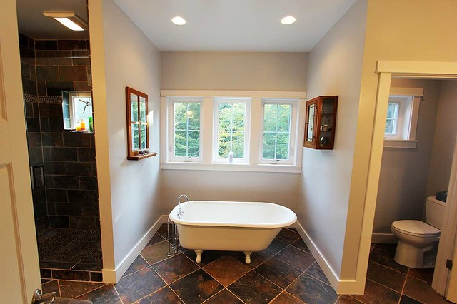 Exclusive Red Cottage - Plan 18260BE traditional bathroom