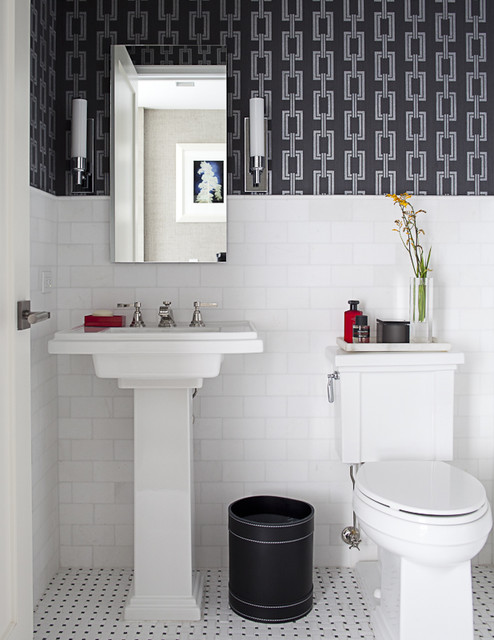 Architectural Powder Room traditional-bathroom