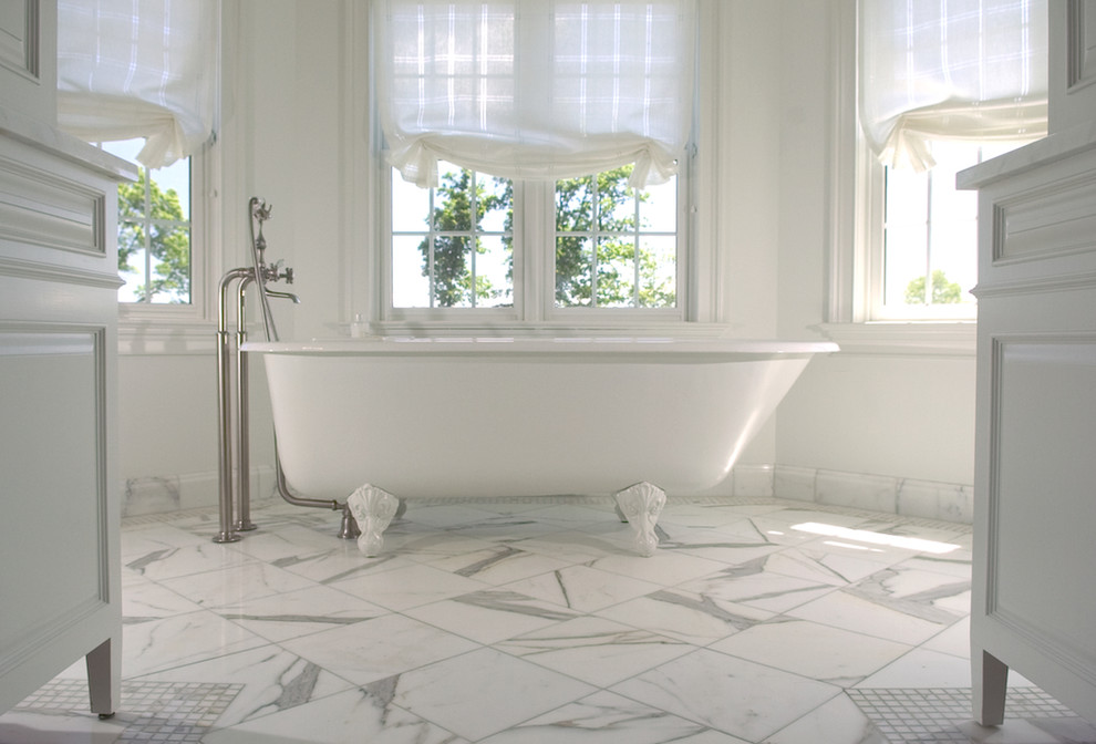 Example of a classic claw-foot bathtub design in New York