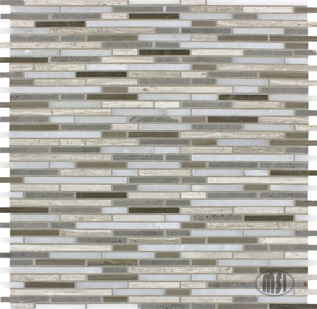 Bamboo Tiles For Bathroom: Arctic Storm Bamboo Mosaic Tile