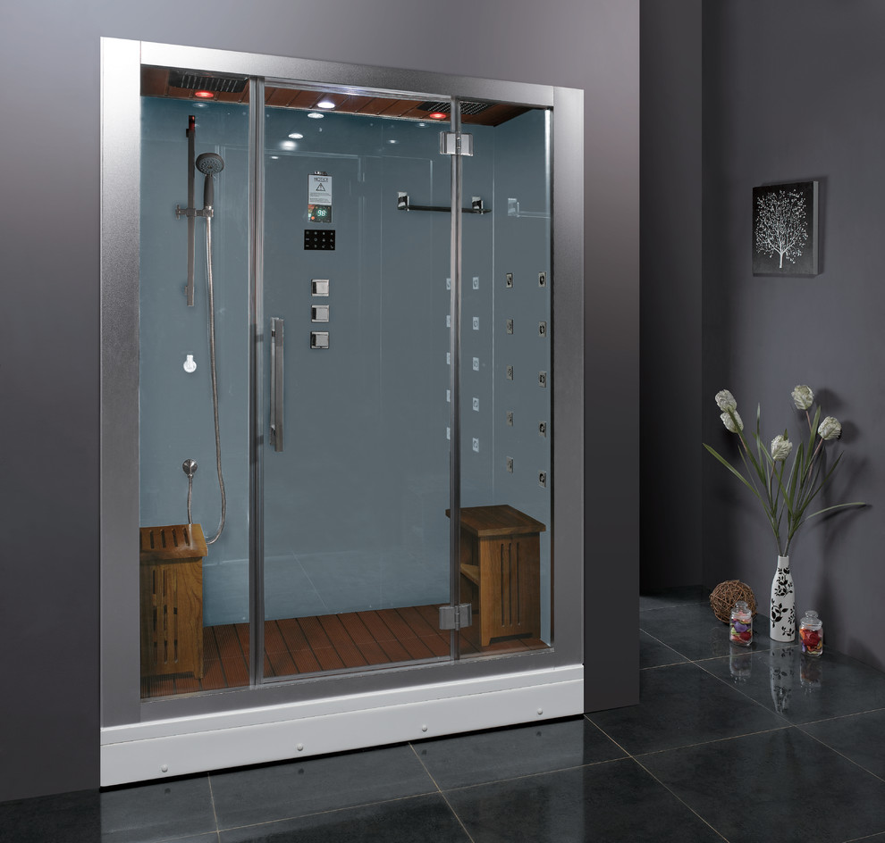 Ariel Platinum Dz972f8 Steam Shower Modern Bathroom Orange