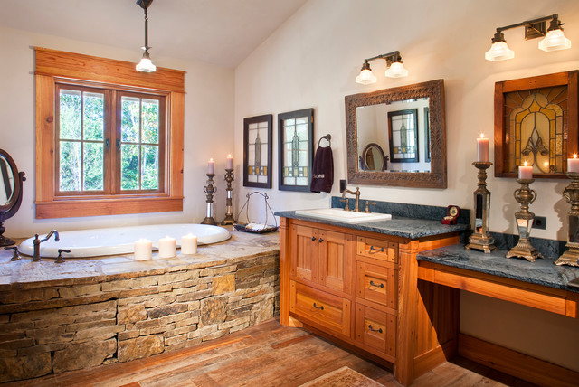 Arkansas Home Master Bath - Rustic - Bathroom - Austin - by WoodCo