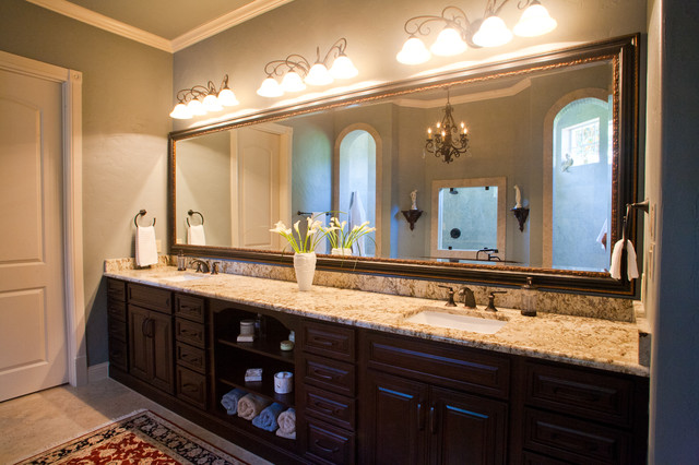 His and her vanity traditional bathroom dallas by kitchen design concepts for His and her bathroom vanities