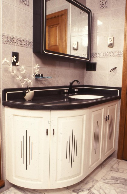 Art Deco Anyone Eclectic Bathroom Boston By A Woodworkers Studio