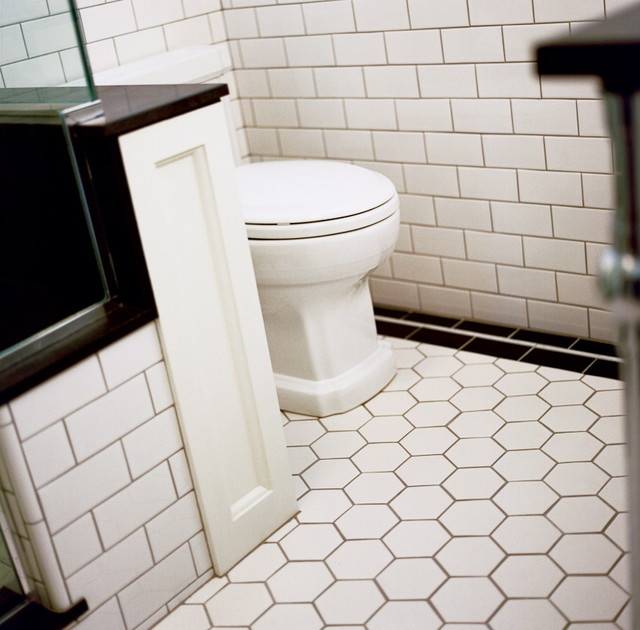 Art deco bathroom traditional bathroom other metro by atomic design for Toilet deco