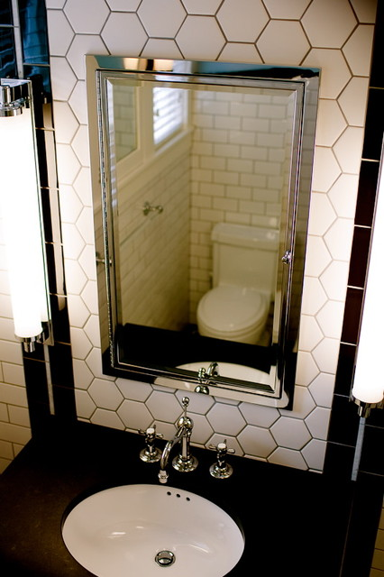 Art deco bathroom traditional bathroom other by for Bathroom ideas art deco