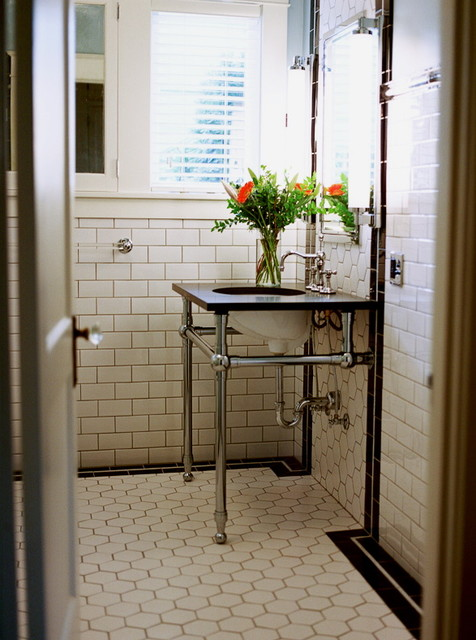 Art deco bathroom traditional bathroom other metro for Small art deco bathroom ideas