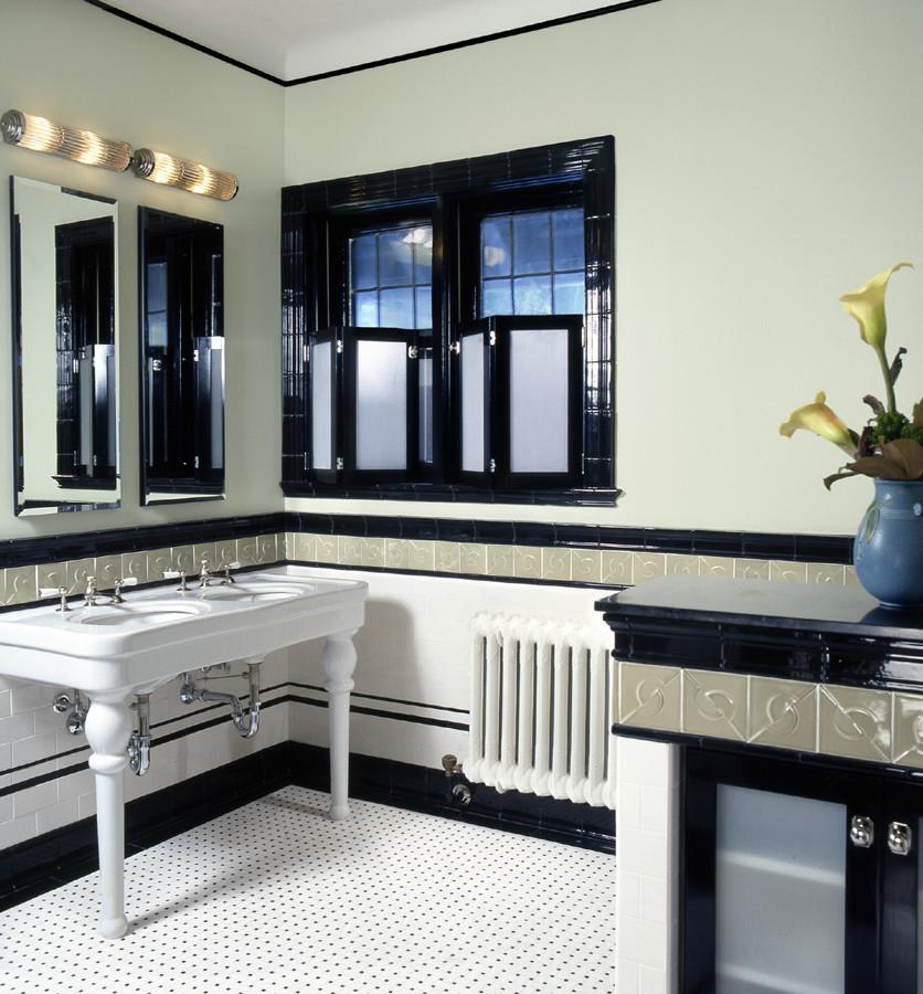 Art Deco Bathroom Traditional Bathroom New York By Robin Muto Houzz