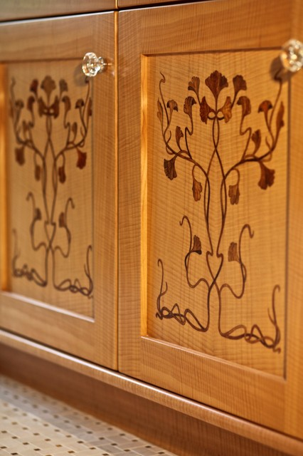 art nouveau trompe l oeil marquetry inlay. Black Bedroom Furniture Sets. Home Design Ideas