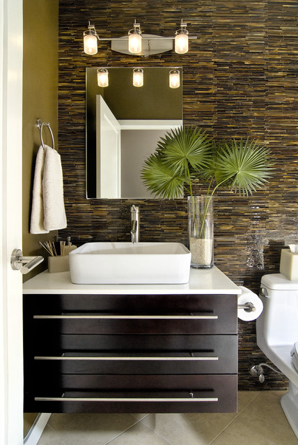 Artistic tile modern bathroom san diego by b d g design group - Bathroom design san diego ...