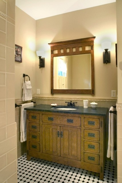 Arts crafts bathroom - Arts and crafts style bathroom design ...