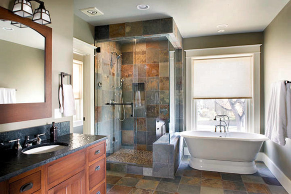 Beautiful Arts U0026 Crafts Master Suite Traditional Bathroom